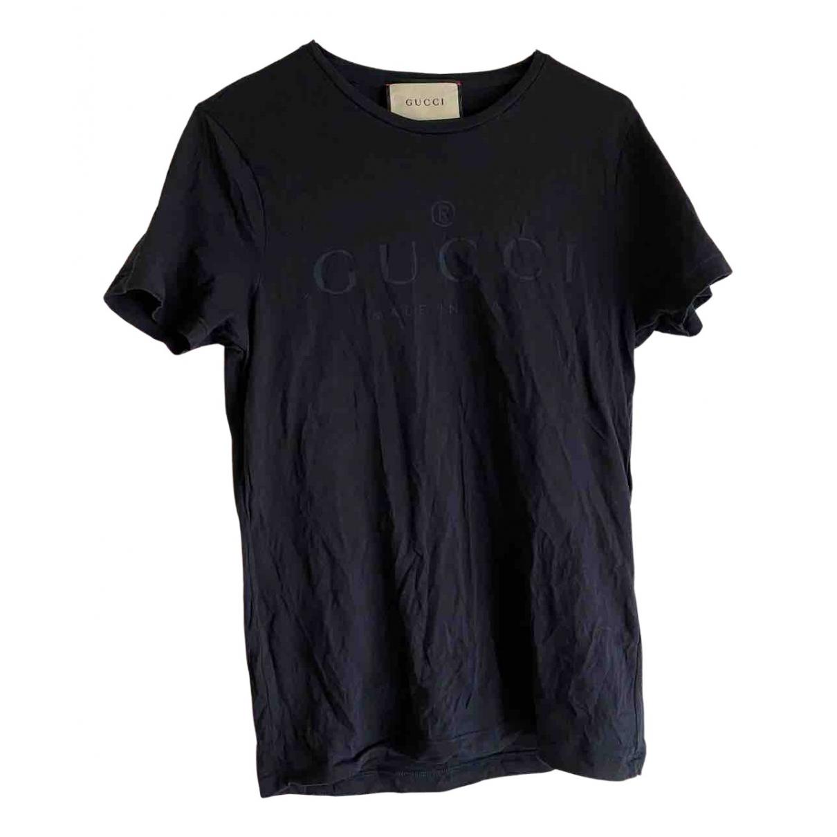 Gucci - Top   pour femme en coton - marine