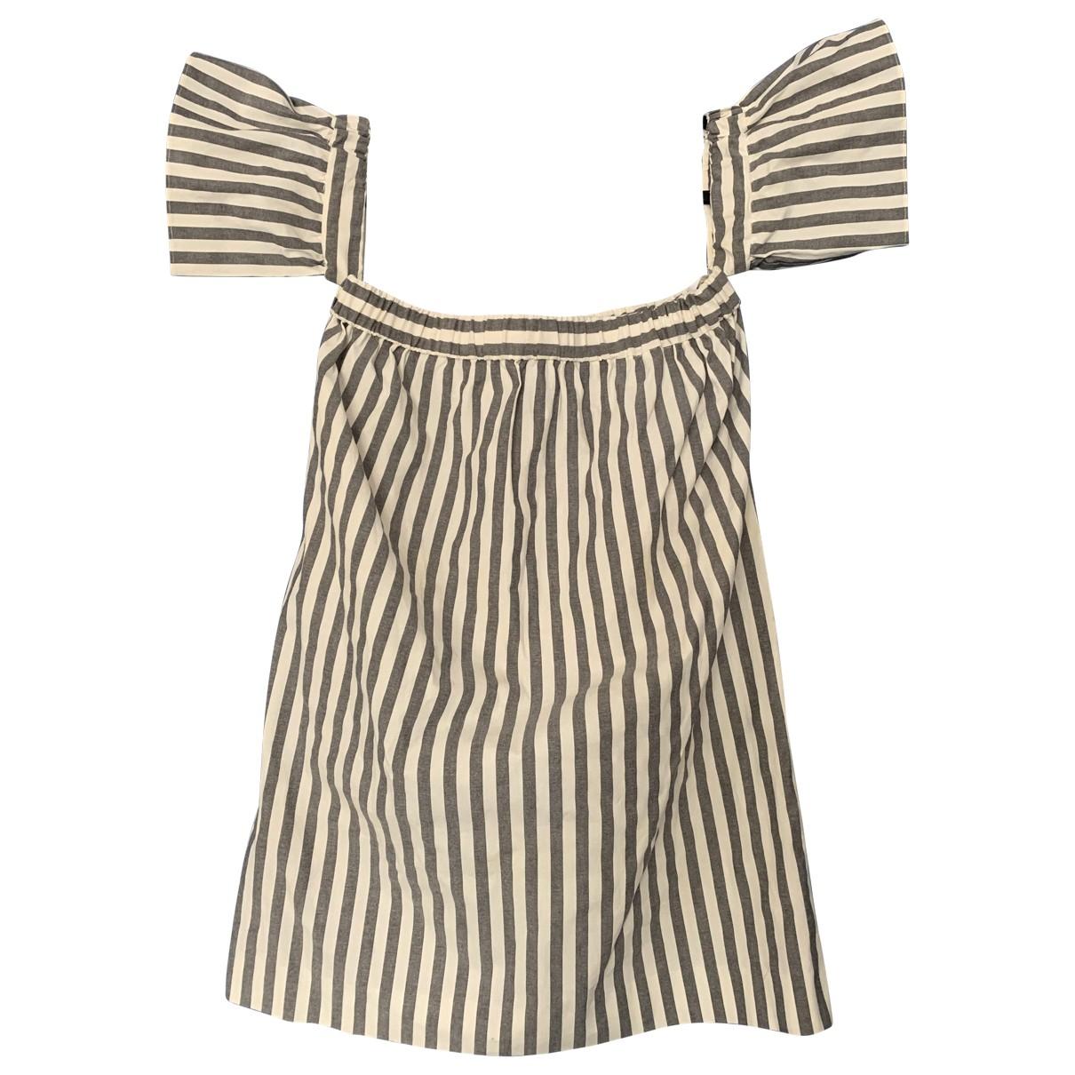 Milly \N Kleid in  Grau Baumwolle