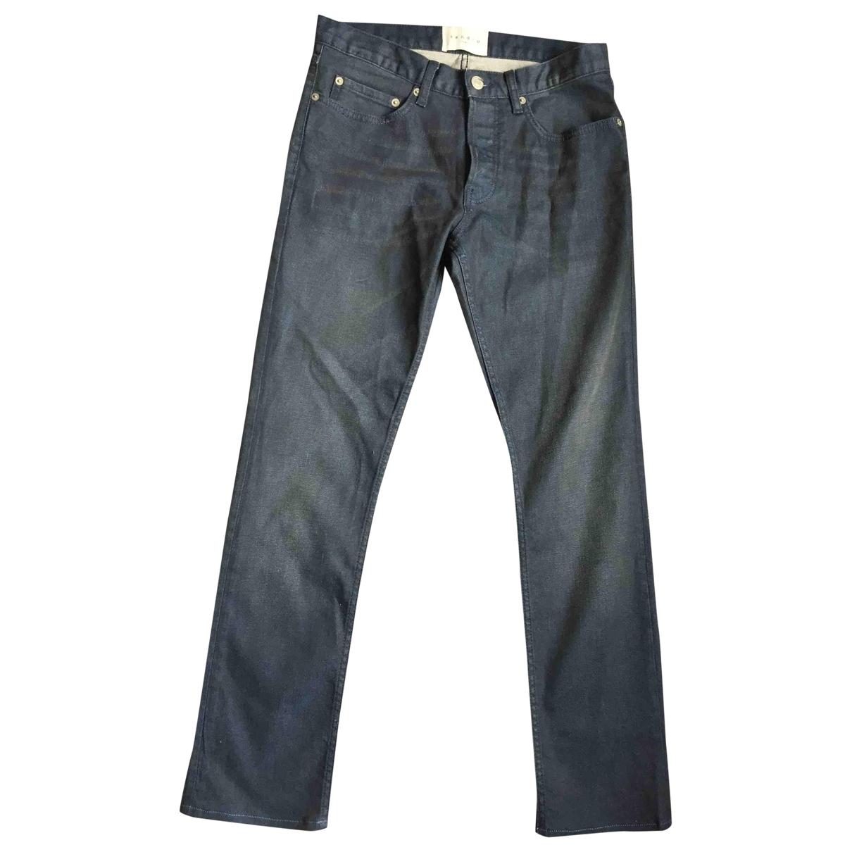 Sandro \N Navy Cotton - elasthane Jeans for Men 29 US