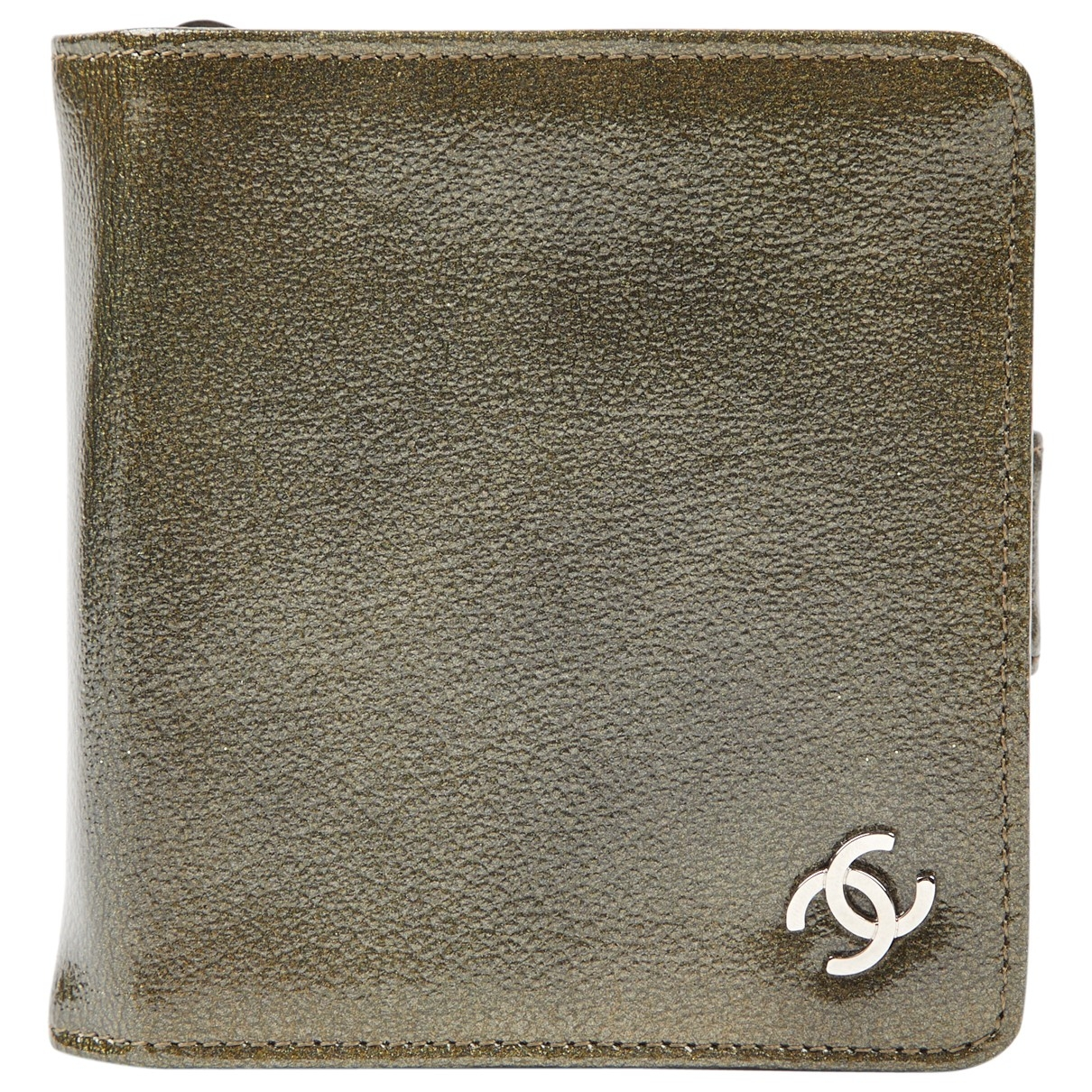 Chanel \N Khaki Patent leather Purses, wallet & cases for Women \N