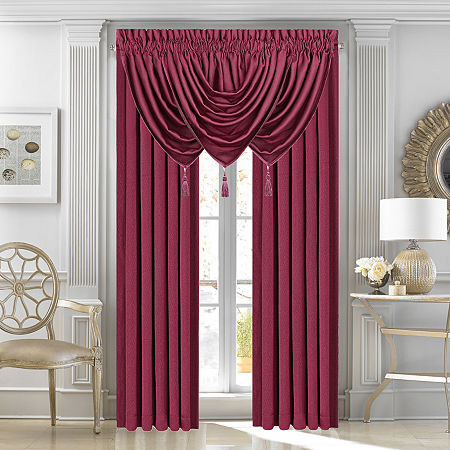 Queen Street Morocco Lined Rod-Pocket Curtain Panel, One Size , Red