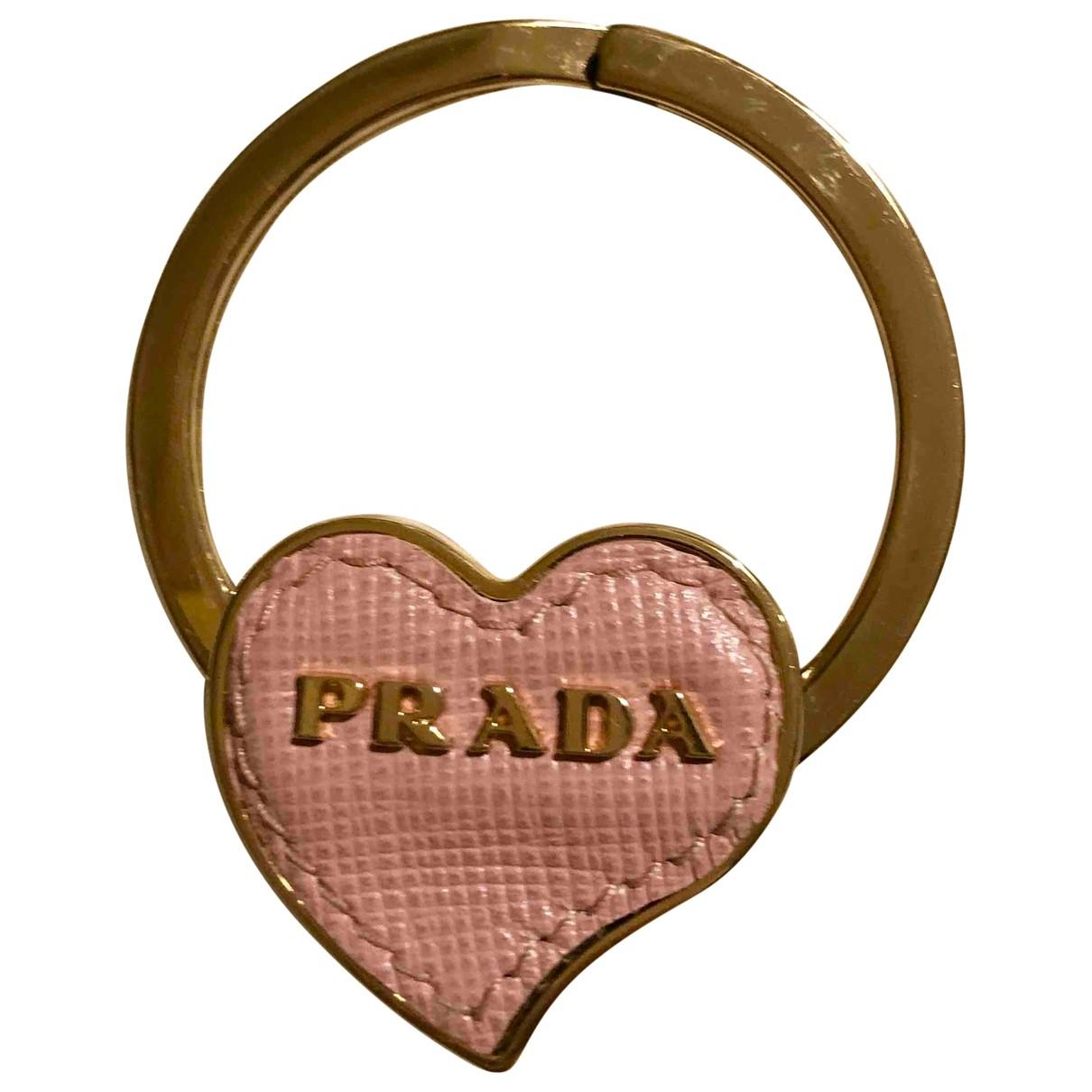 Prada - Bijoux de sac   pour femme en cuir - rose