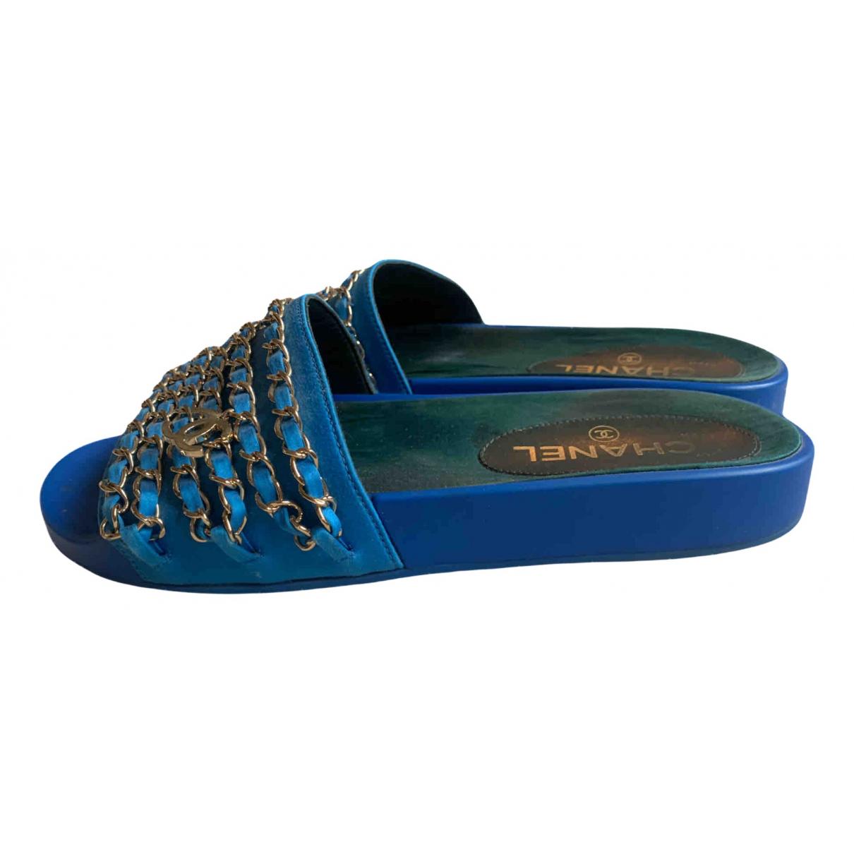 Chanel \N Sandalen in  Blau Kautschuk