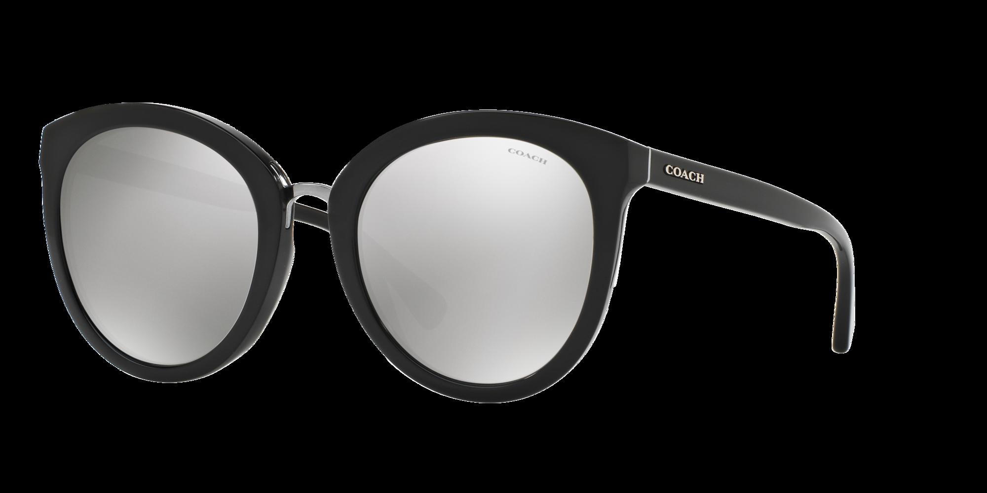 Coach Unisex  HC8199D -  Frame color: Noir, Lens color: Argent, Size 56-22/150