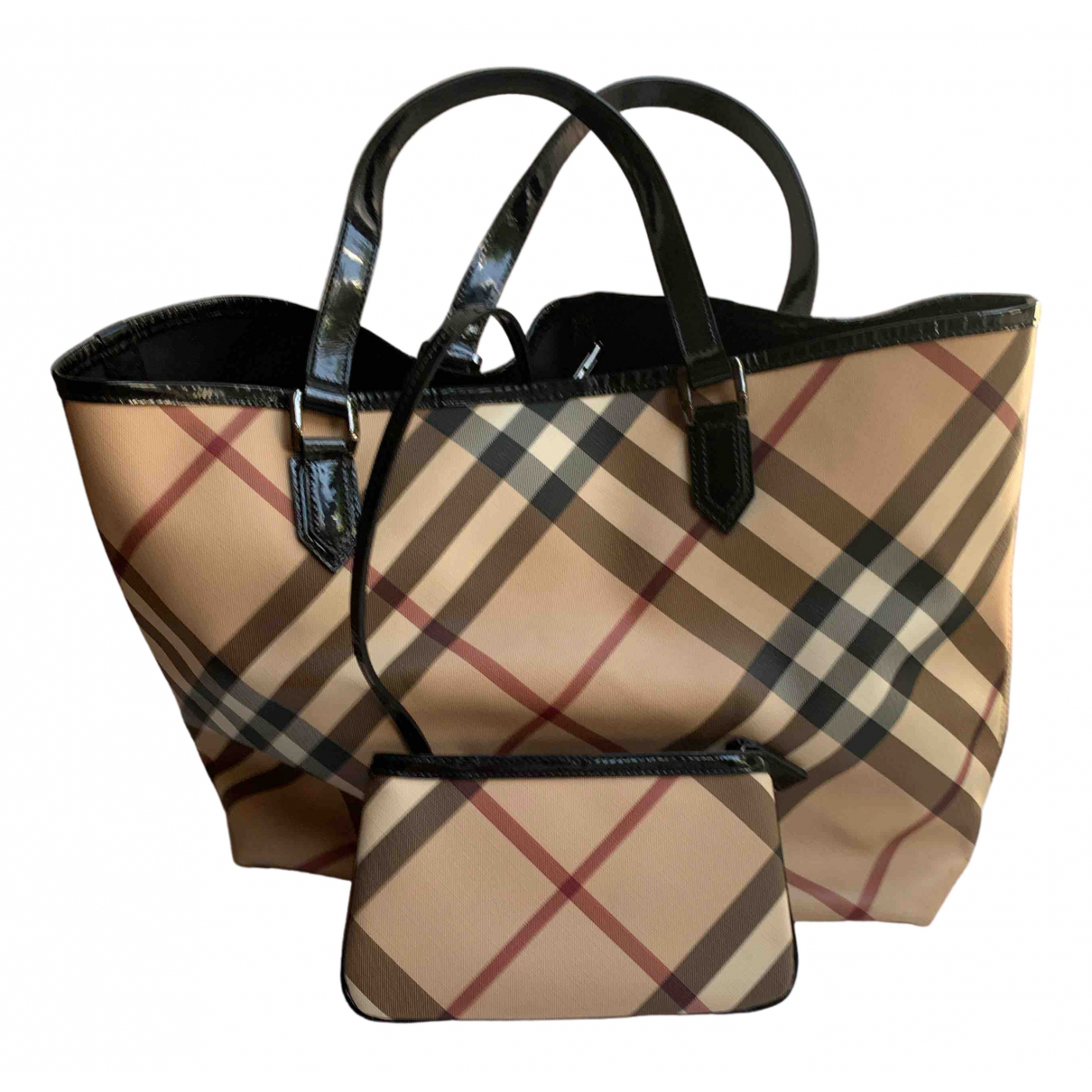 Burberry N Beige Patent leather handbag for Women N