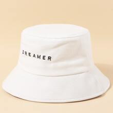 Sombrero cubo de hombres con letra