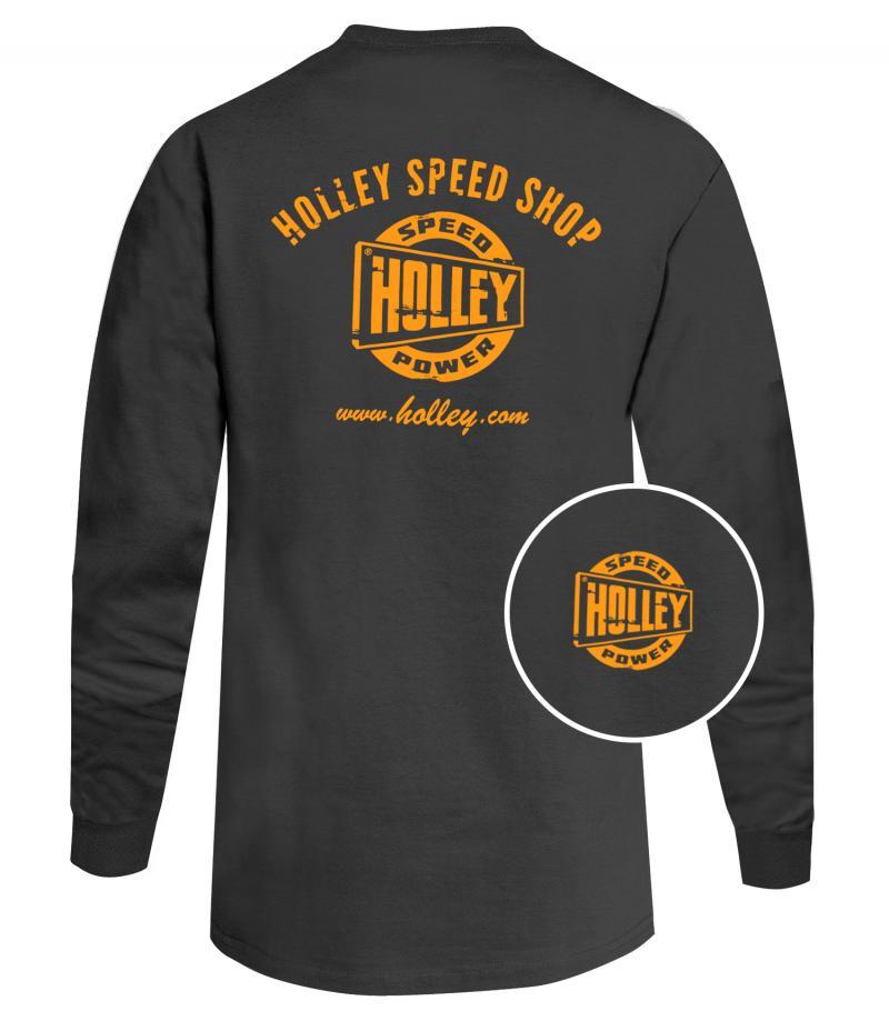 Holley 10048-LGHOL TEE - TRUCK DOOR LS GRAY