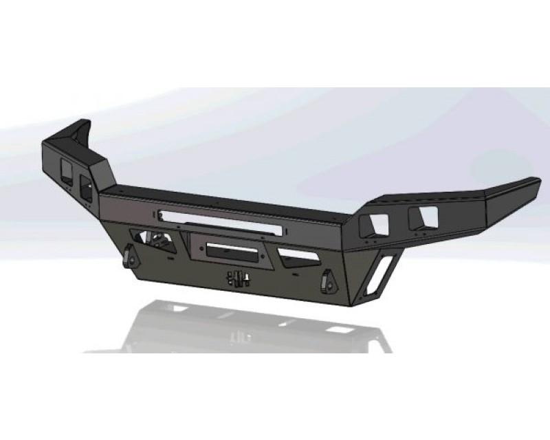 Hammerhead Armor 600-56-0840 Tacoma Black Steel Front Winch Bumper Low Profile No Bull Bar For 16-20 Tacoma Black Steel