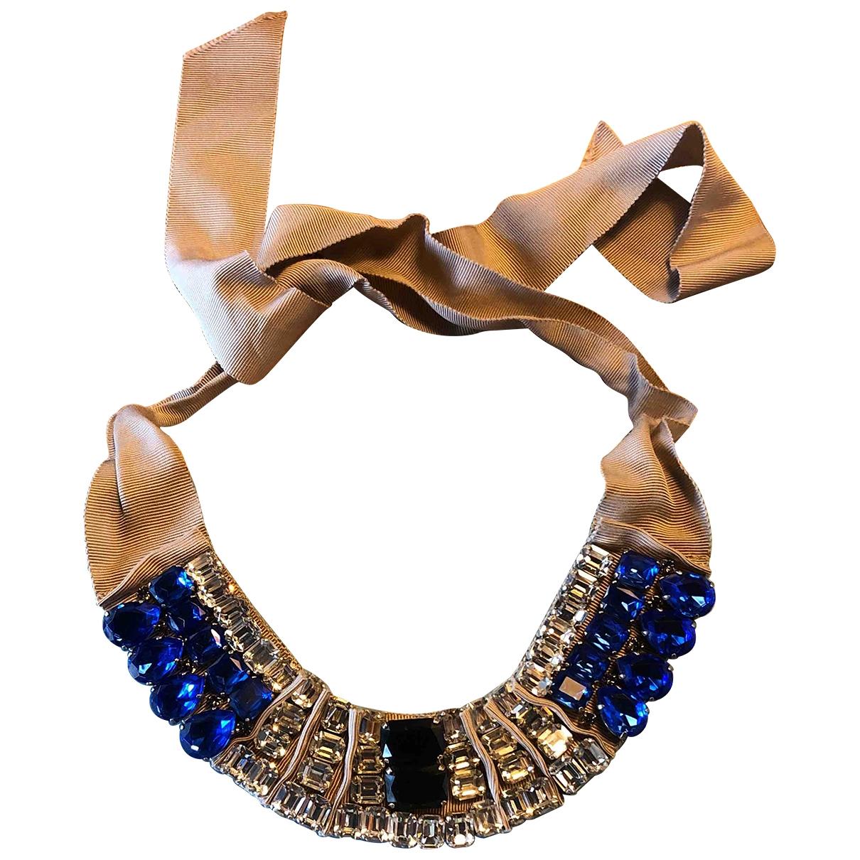 Lanvin - Collier   pour femme en cristal - bleu