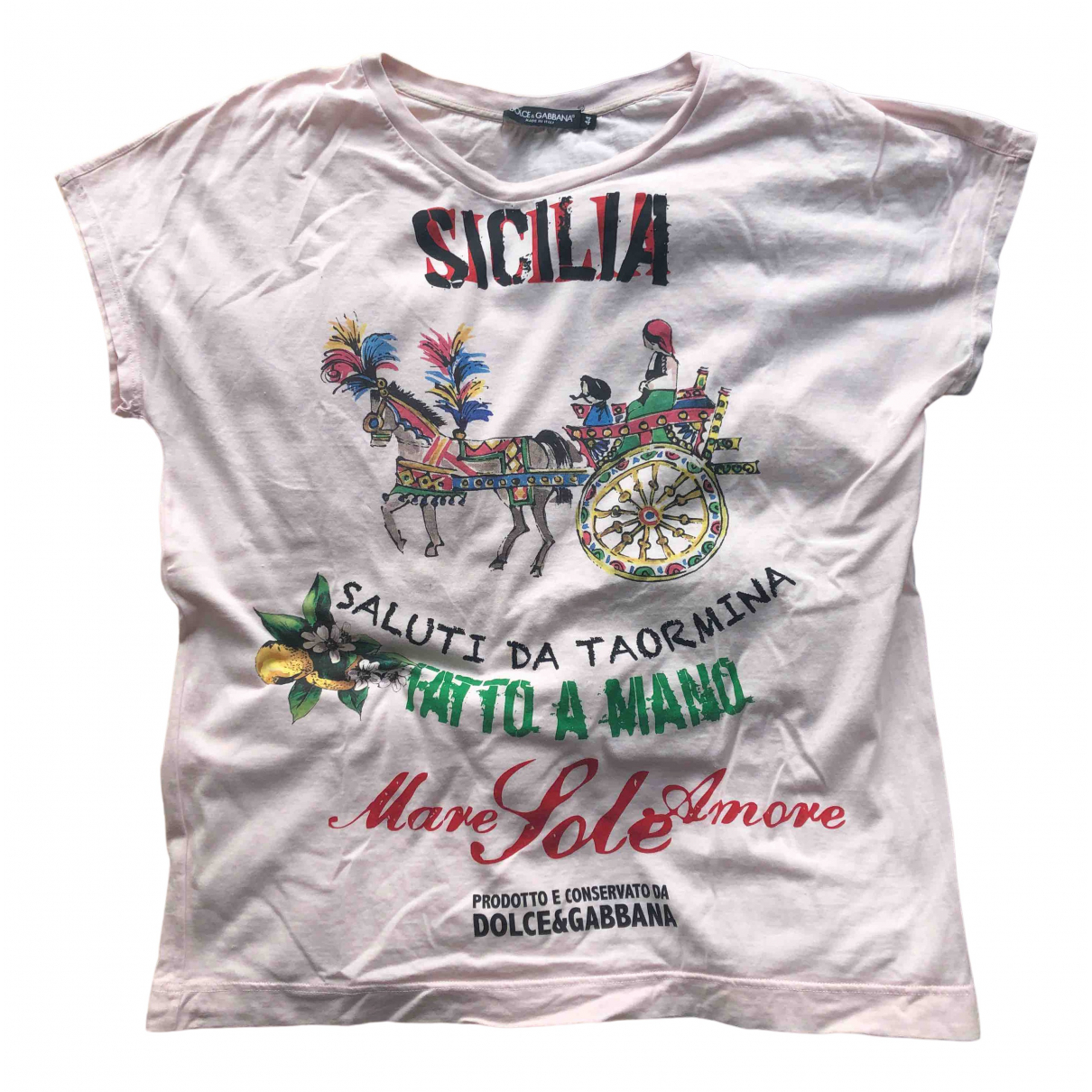 Dolce & Gabbana \N Pink Cotton  top for Women 44 IT