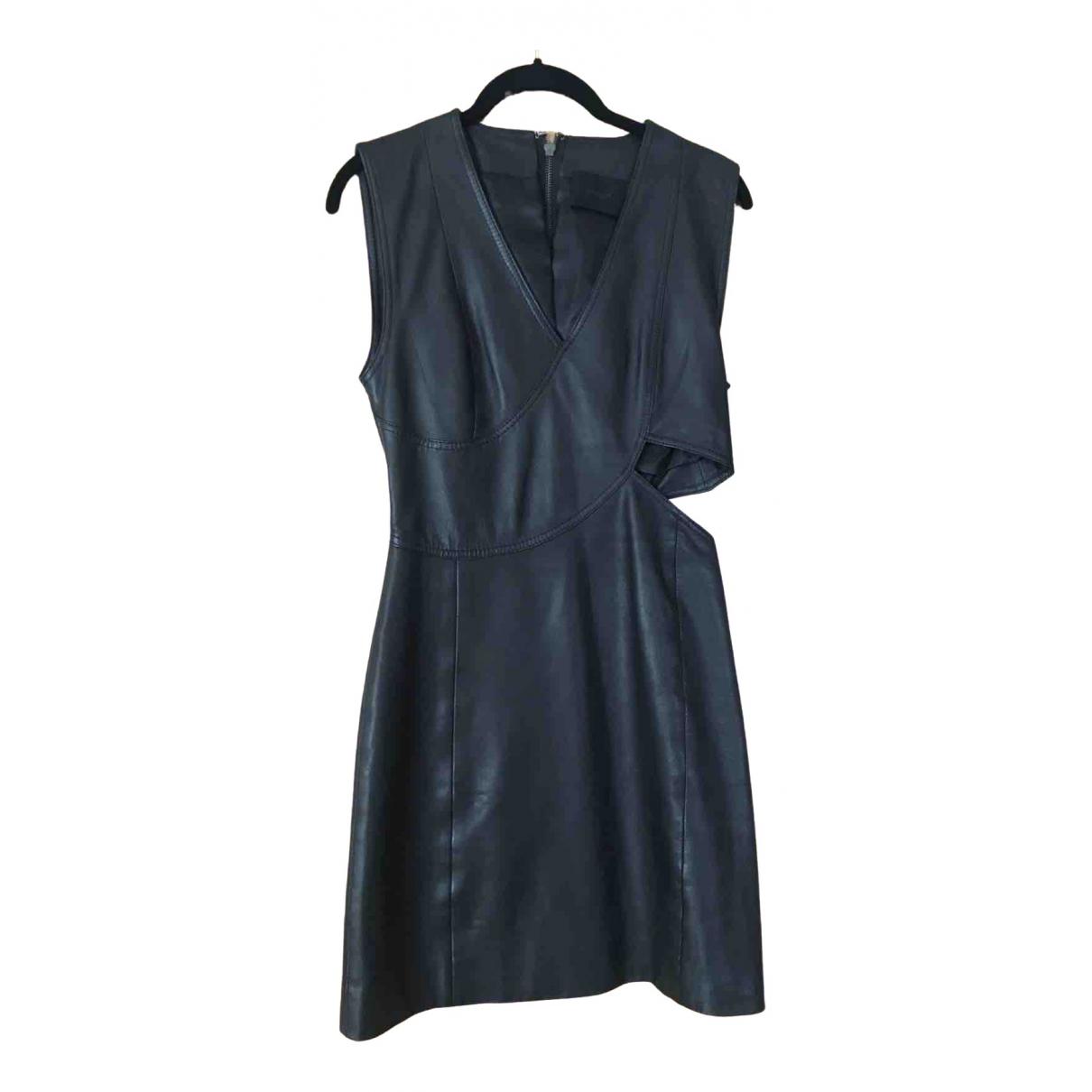 Gestuz \N Kleid in  Schwarz Leder