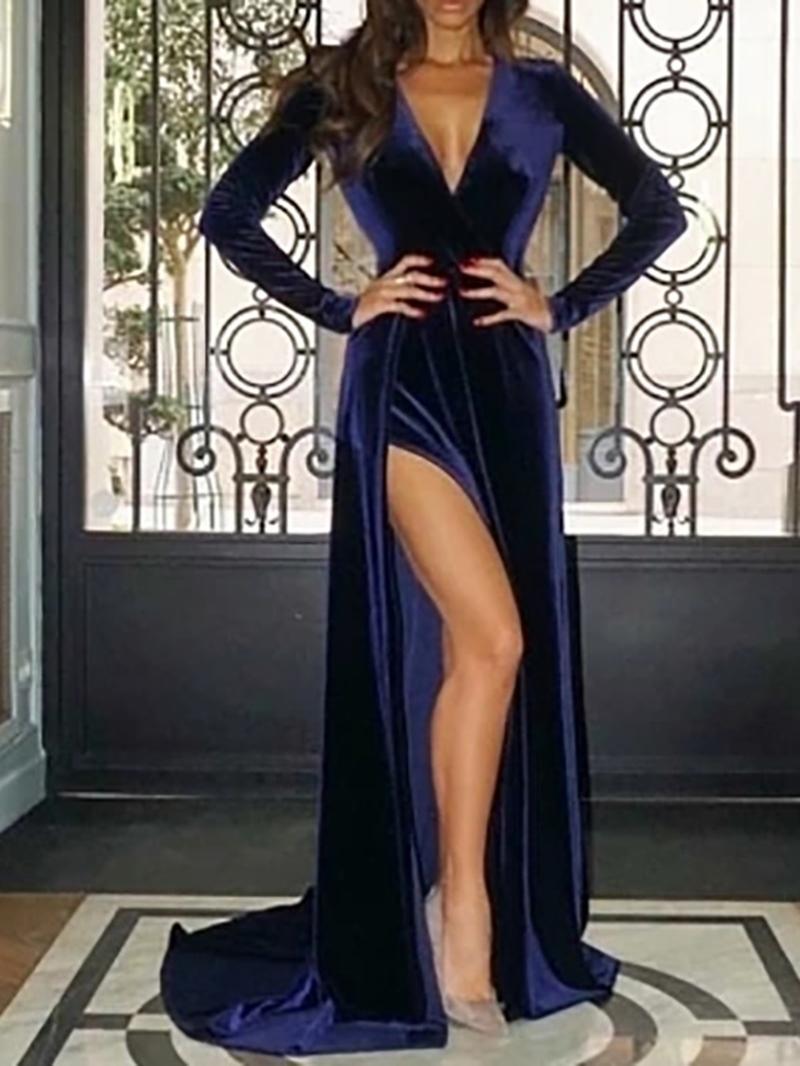 Ericdress Long Sleeves Split-Front Mermaid Evening Dress
