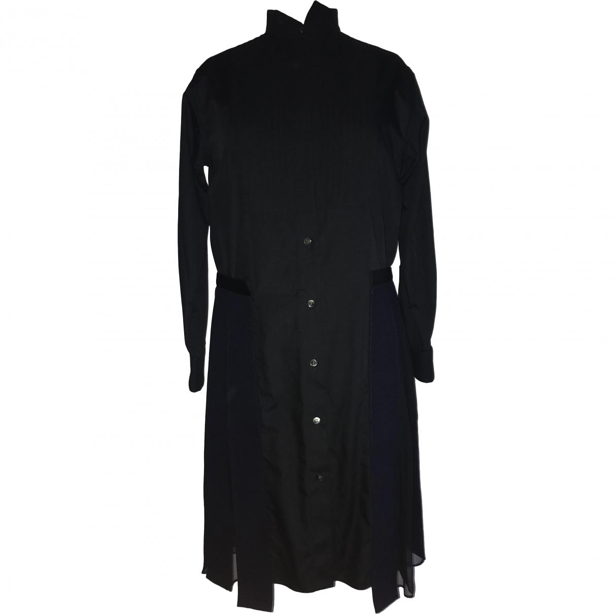 Sacai \N Black Cotton dress for Women 2 0-5