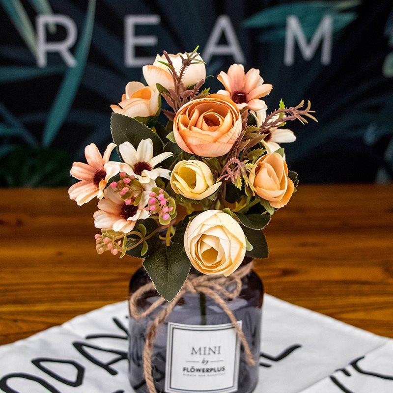 Beddinginn Silk Flower Tea Rose Artificial Flowers