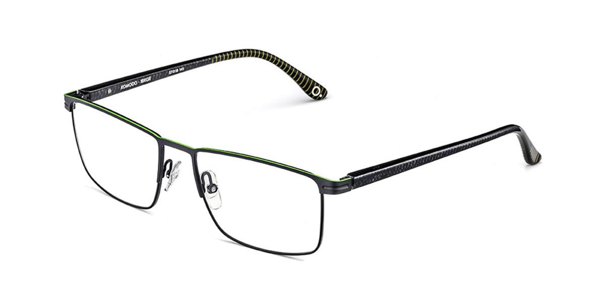 Etnia Barcelona Komodo BKGR Men's Glasses Black Size 57 - Free Lenses - HSA/FSA Insurance - Blue Light Block Available
