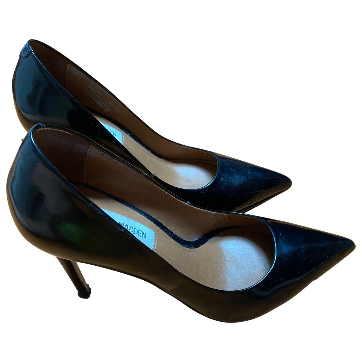 Steve Madden \N Black Leather Heels for Women 39 IT
