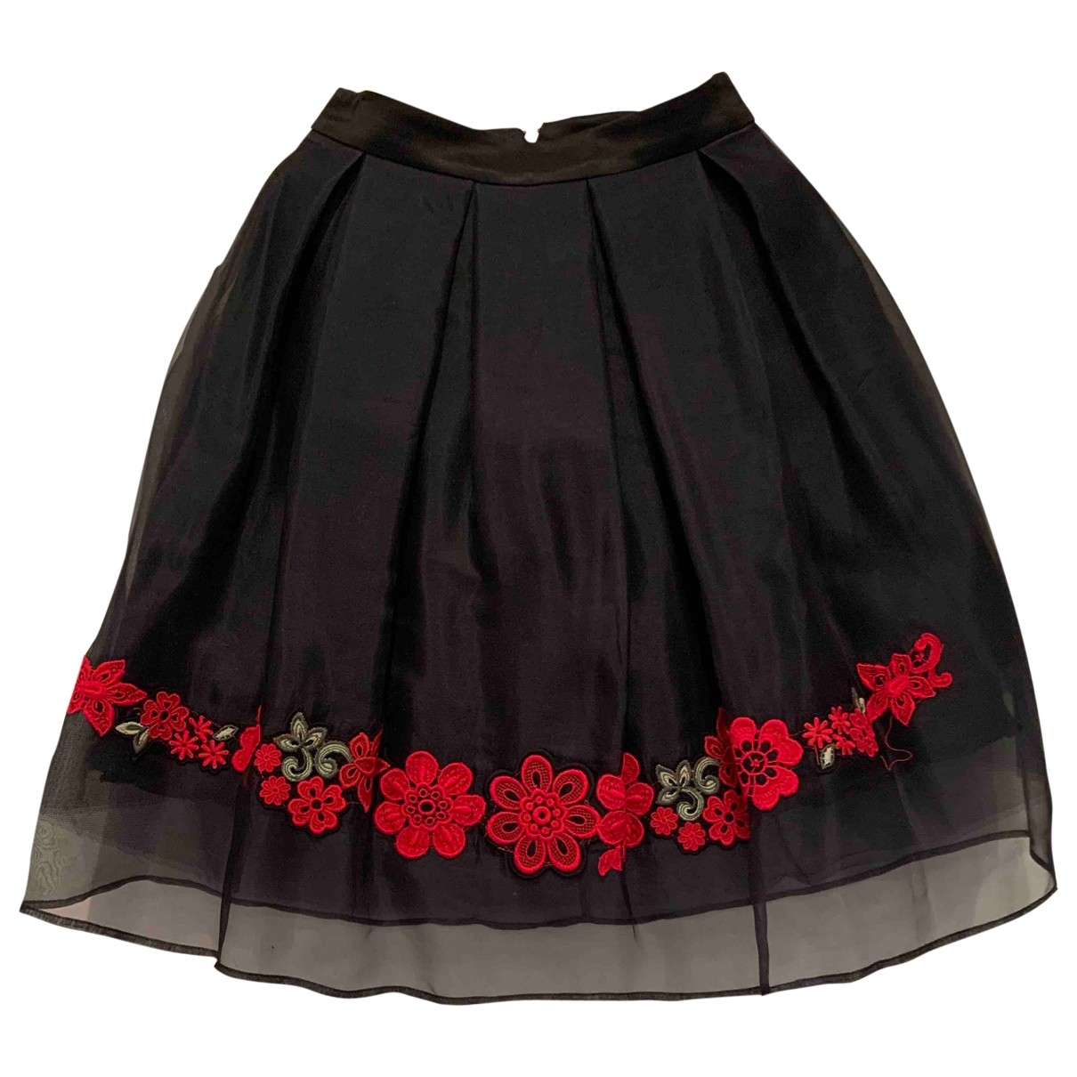 Flavio Castellani \N Black Silk skirt for Women 38 IT