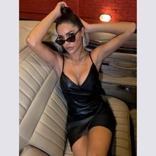 D&M Zip Side Wrap PU Leather Dress