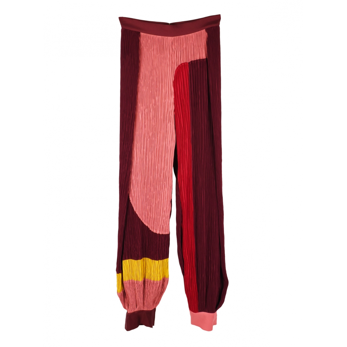 Roksanda \N Burgundy Trousers for Women 34 FR