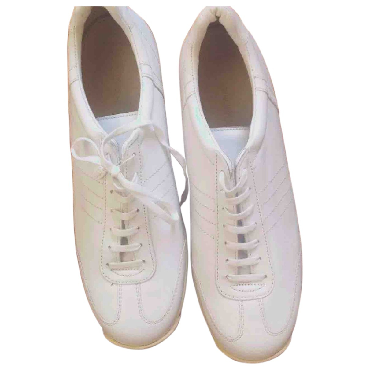 Costume National \N White Leather Trainers for Women 40 IT