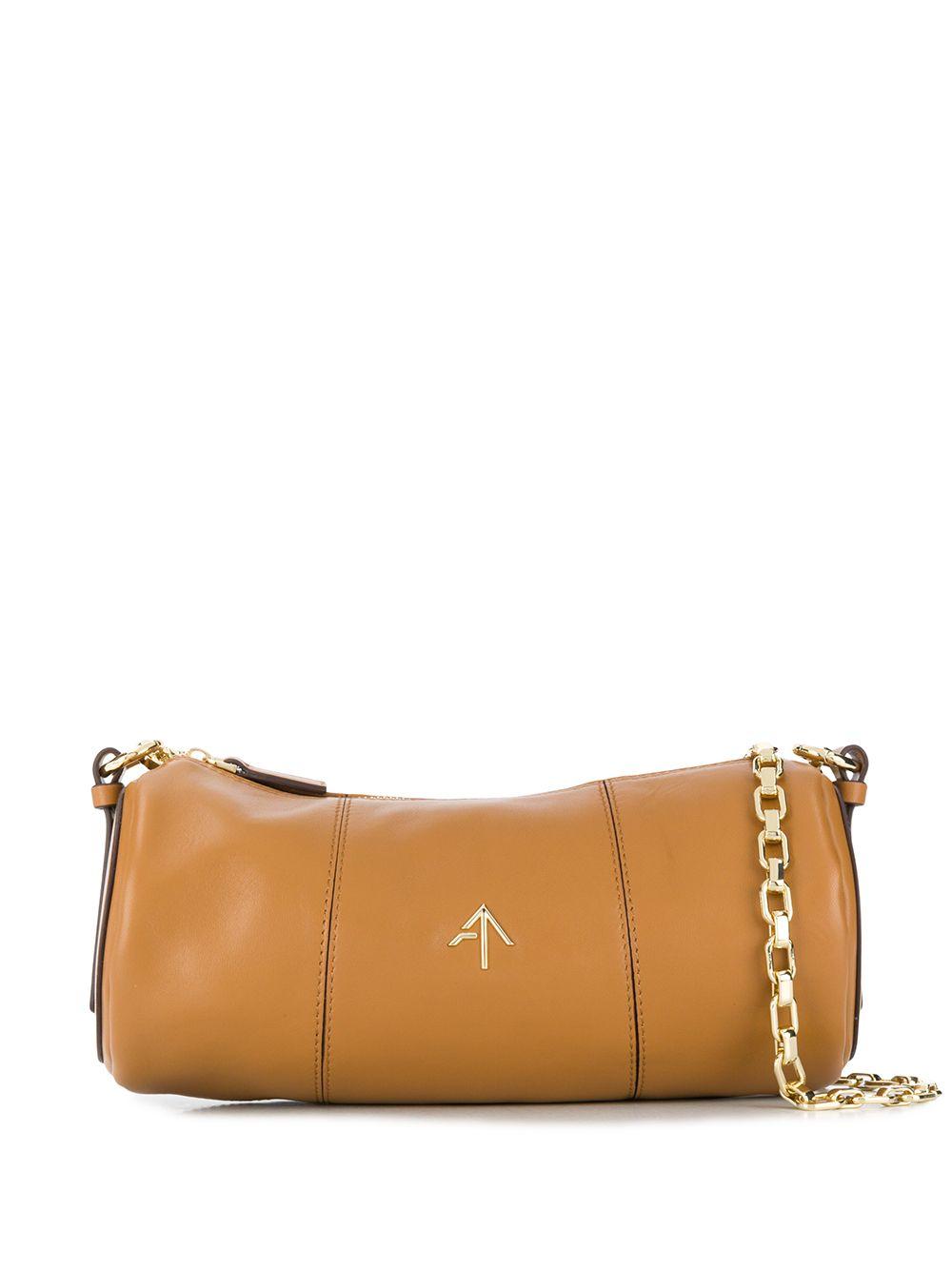 Cylinder Leather Crossbody Bag