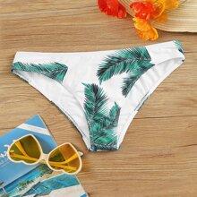 Bragas bikini con estampado de palma