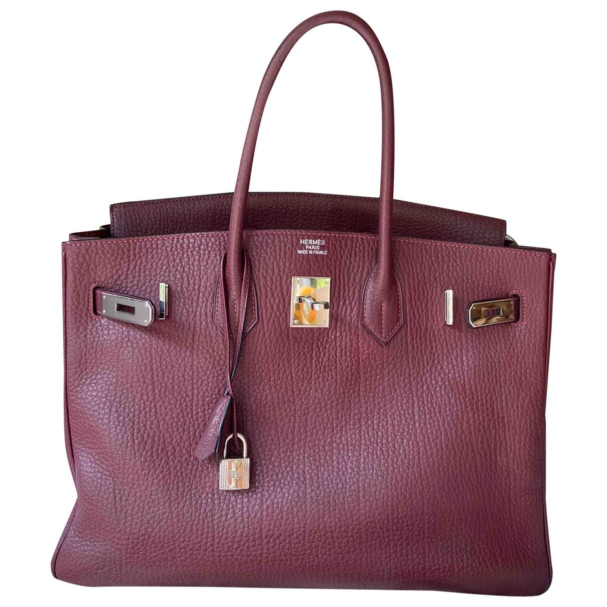 Hermès Birkin 35 Burgundy Leather handbag for Women \N