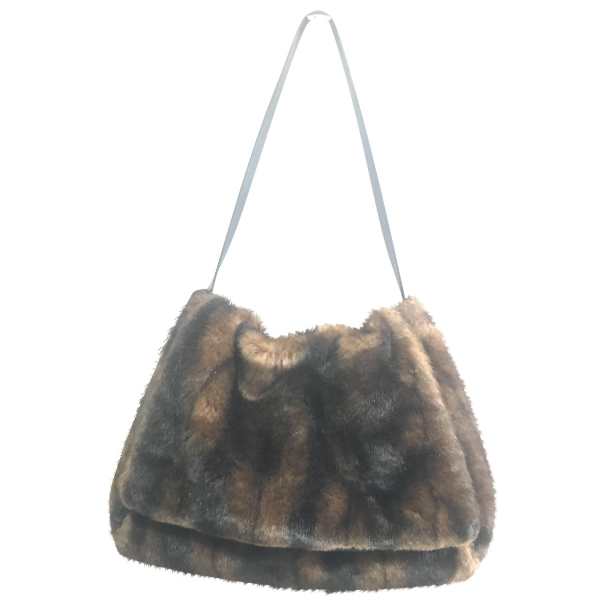 Non Signé / Unsigned \N Brown Faux fur handbag for Women \N