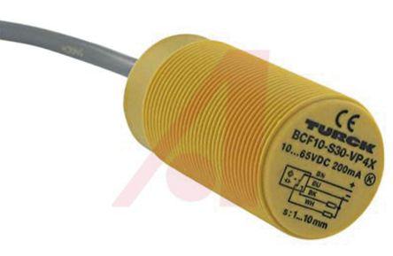 Turck 63mm Flush, Non Flush Mount Capacitive sensor, PNP-CO Output, 15 mm Detection Range, IP67