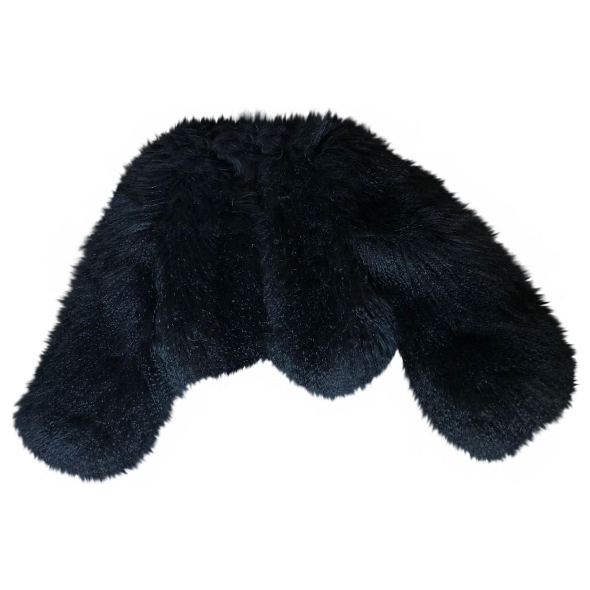 Valentino Garavani - Manteau   pour femme en agneau de mongolie - noir