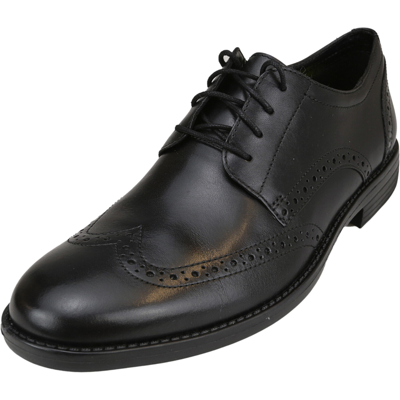 Bostonian Men's Birkett Leather Black Ankle-High Oxford - 8M