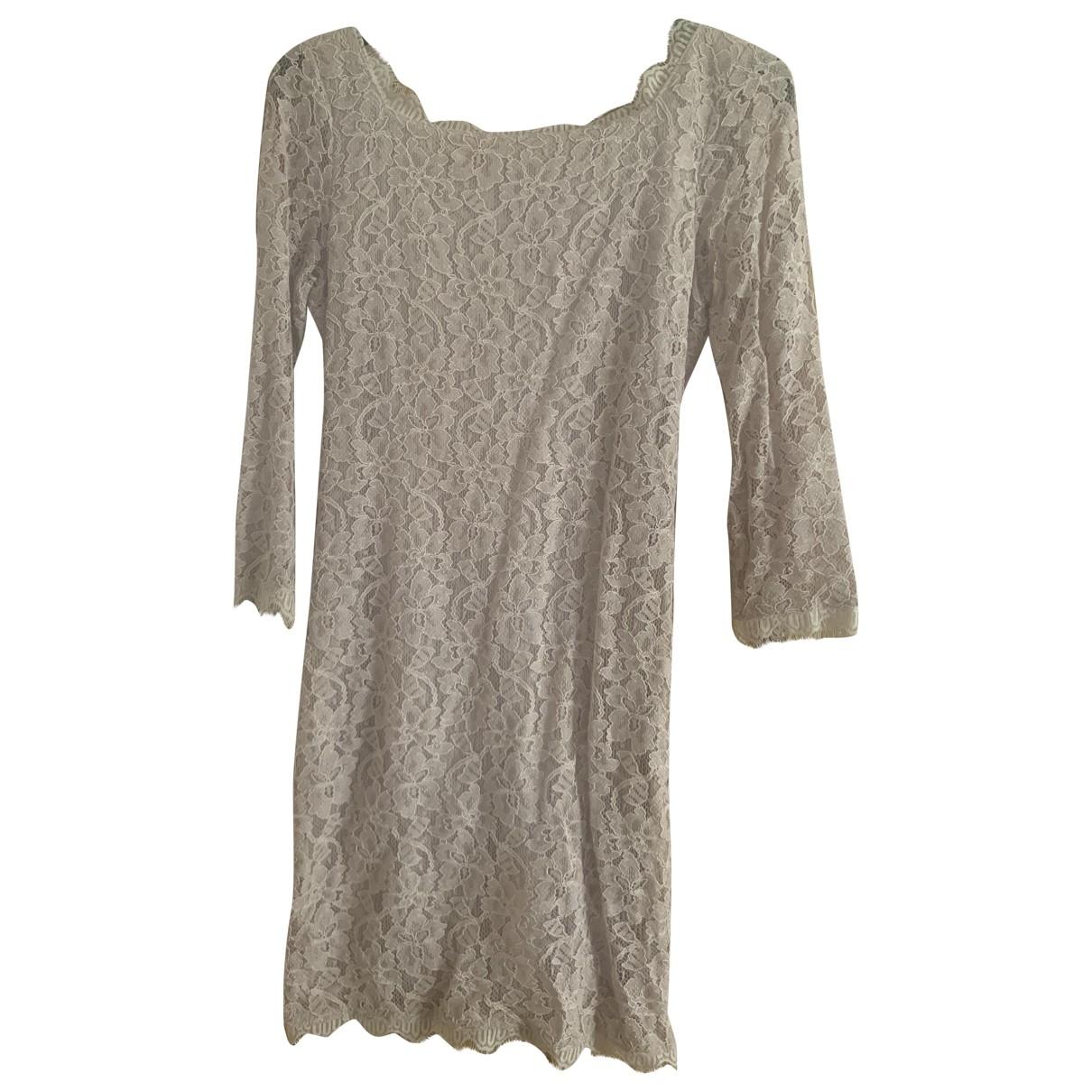 Diane Von Furstenberg \N Beige Lace dress for Women 4 US