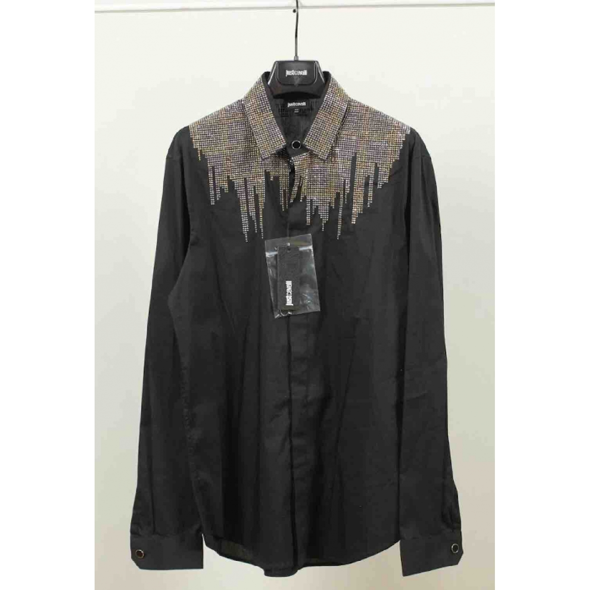 Just Cavalli \N Black Cotton Shirts for Men M International