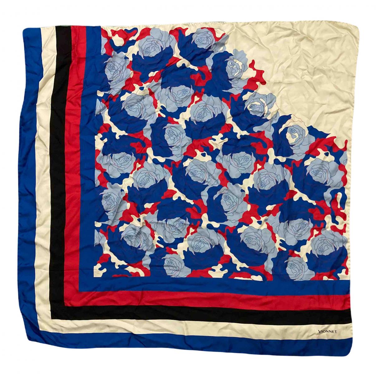 Vionnet - Foulard   pour femme en soie - bleu