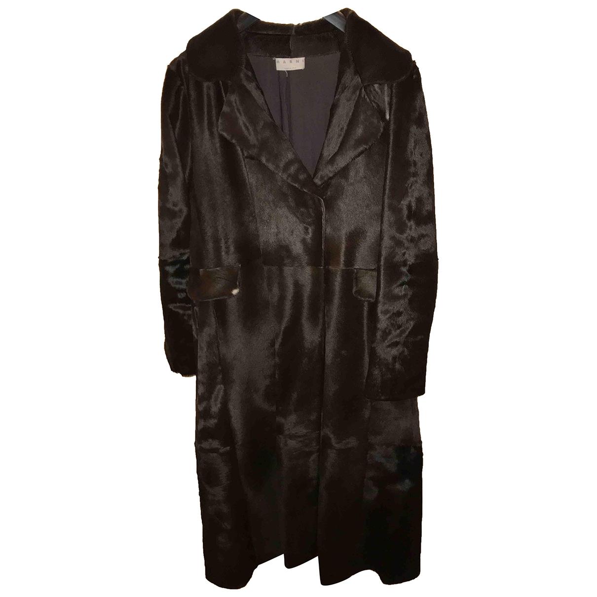 Marni \N Brown Fur coat for Women 46 IT