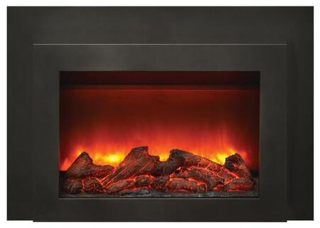 INS-FM-30 30 Insert Electric Fireplace with Dual Steel Surround  500 Sq.Ft. Heating Area  Remote Control  LED Lightning and Hard Wire Ready  in