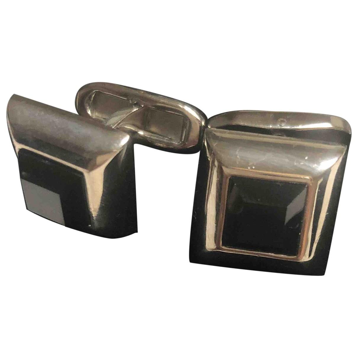 Dolce & Gabbana \N Manschettenknopfe in  Schwarz Metall
