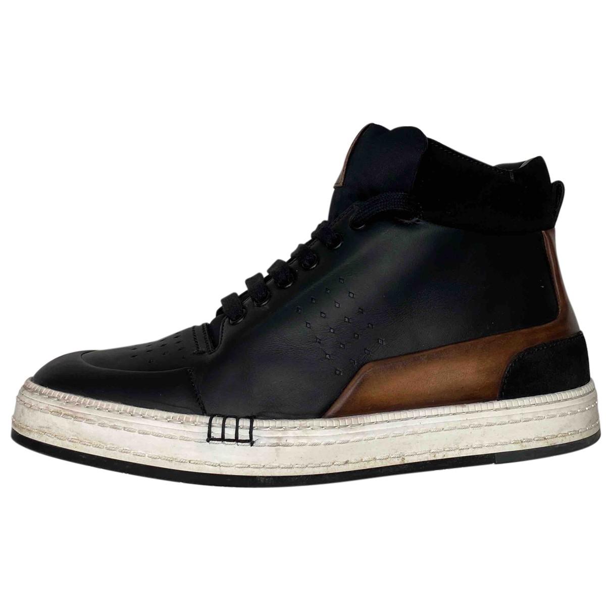 Berluti - Baskets   pour homme en cuir - noir