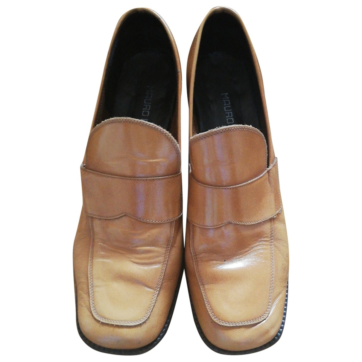 Non Signé / Unsigned \N Camel Leather Flats for Women 38.5 EU