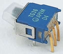 APEM PCB Slide Switch Single Pole Single Throw (SPST) Latching 400 mA @ 20 V Slide