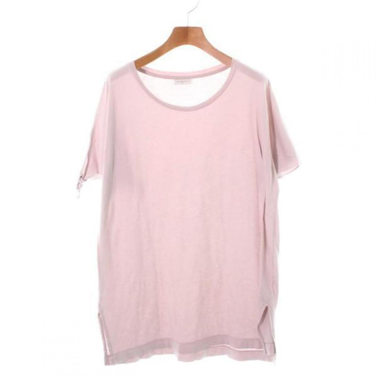 Dries Van Noten - Top   pour femme en coton - rose