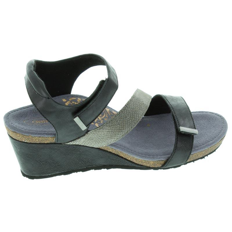Aetrex Brynn Black Leather High Heel 39