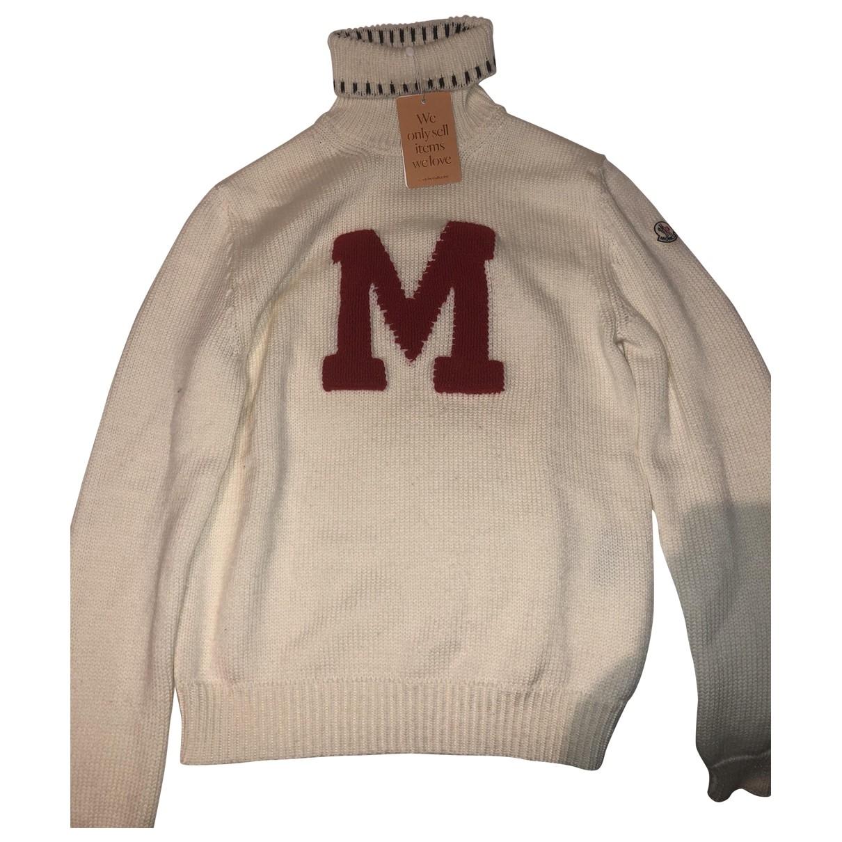 Moncler Genius Moncler n°2 1952 + Valextra Pullover.Westen.Sweatshirts  in  Ecru Wolle