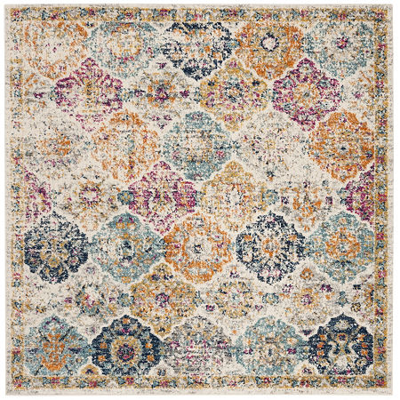 Safavieh Madison Collection Sally Geometric Square Area Rug, One Size , Multiple Colors