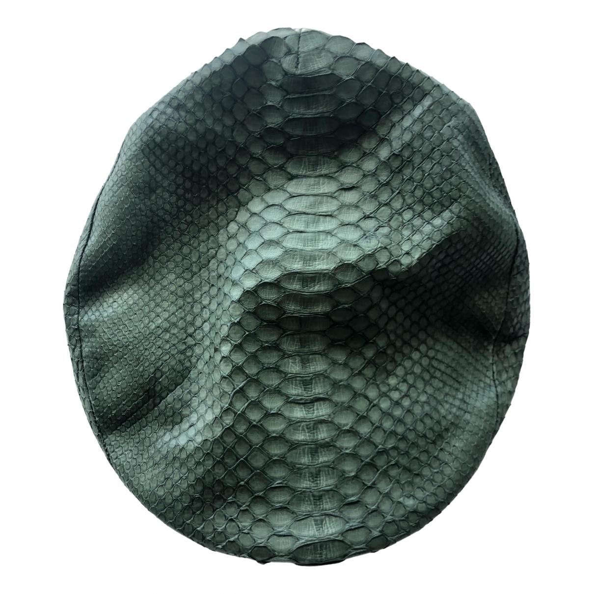 Giorgio Armani N Green Leather hat for Women 57 cm