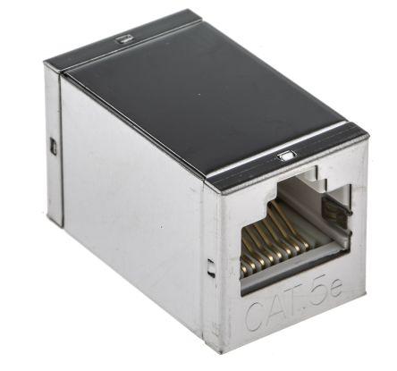 RS PRO Cat.5e RJ45 STP socket-socket coupler