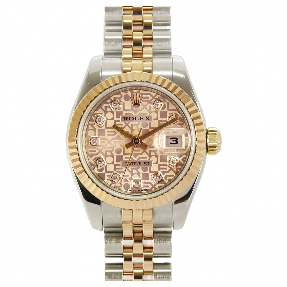 Rolex Lady DateJust 26mm Pink gold and steel watch for Women \N