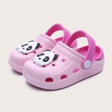Toddler Girls Cartoon Panda Graphic Sliders