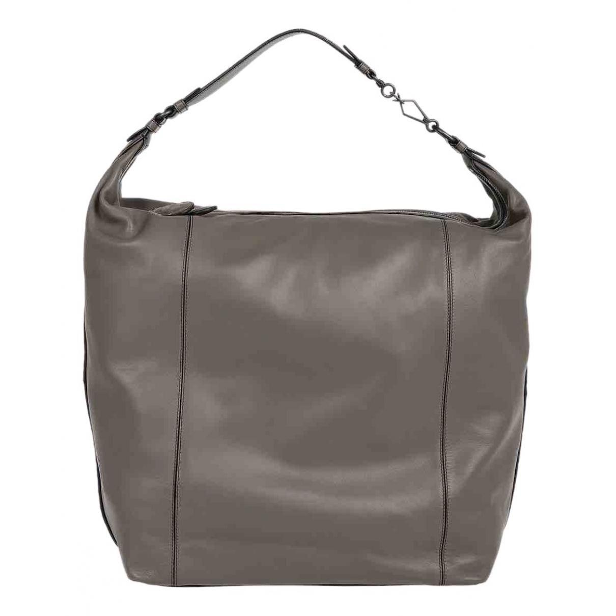 Bottega Veneta N Grey Leather handbag for Women N