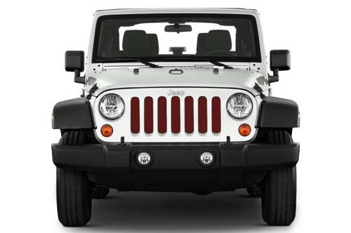 Jeep Wrangler Grill Inserts 07-18 JK Red Rock Crystal Pearl Under The Sun Inserts INSRT-SLDRDRCK-JK